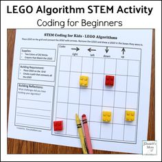 What a fun and tangible way for students to be able to learn about coding before heading to the computer programs! Coding for Beginners - LEGO Algorithm STEM Activity Lego Coding, Computer Coding, Computer Science, Gaming Computer, Coding For Beginners, Lego Math, Teaching Technology, Technology Lessons, Teaching Biology