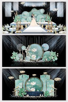 Elegant Chinese wedding effect map Chinese Wedding Decor, Desi Wedding Decor, Wedding Backdrop Design, Wedding Stage Design, Wedding Stage Decorations, Wedding Designs, Wedding Mandap, Wedding Receptions, Blue Wedding
