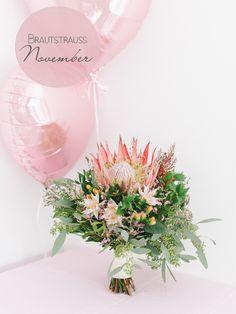 Protea im Brautstrauß für November