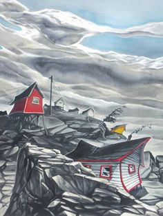 Young Studios is a gallery and studio owned and operated in Fogo Island Newfoundland by Adam Young. Fogo Island Newfoundland, Newfoundland Canada, Newfoundland And Labrador, Canadian Painters, Canadian Artists, New Artists, Mary Pratt, Adam Young, Young Art