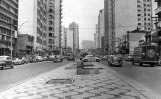 1966 - Rua Amaral Gurgel antes da construção do elevado Costa e Silva (Minhocão).