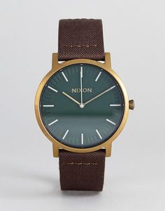 NIXON A1058 PORTER LEATHER WATCH IN BROWN - BROWN. #nixon #