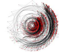 From Infosthetics: the beauty of data visualization (http://pingmag.jp/2007/03/23/infosthetics-form-follows-data/)