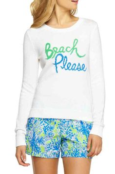 "Lilly Pulitzer Sybil Intarsia Sweater in ""Beach Please"""