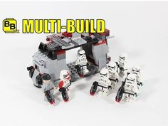 Here's Our Lego Star Wars Assault Dropship Multi-Build Created From The Lego Star Wars Imperial Troop Transport 75078 & Galactic Empire Battle Pack . Lego Videos, Cool Lego, Lego Star Wars, Starwars, Minecraft, Transportation, Battle, Building, Youtube