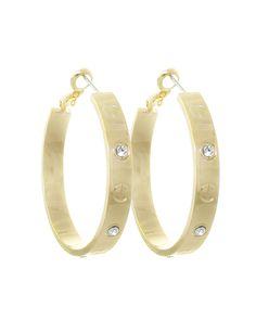 Gold Diamond Love Inspired Hoop Earrings