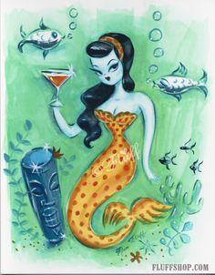 Martini mermaids Miss Fluff - Google Search