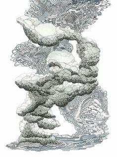 Angelika Arendt. o. T., 2012. Tusche und Aquarell auf Papier, 40...