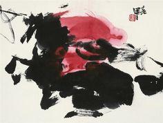 Jia Haoyi - HORSES; Dimensions: 13.39 X 17.72 in (34 X 45 cm)