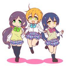 Nozomi Tojo , Rin Hoshizora & Umi Sonoda