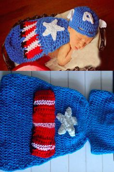 CCC211 One Piece Captain America Baby Prop Hat Outfit – LAST CALL