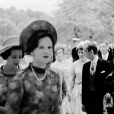 misshonoriaglossop:  Gif of the Wedding of Princess Margaretha of Sweden and John Ambler, 30 June 1964, in Gärdslösa Church-Crown Princess Margaretha followed by Princess Benedikte and Princess Anne-Marie
