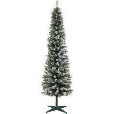 Buy Green Snow Tipped Pencil Christmas Tree - 6ft at Argos.co.uk - Your Online Shop for Christmas trees.