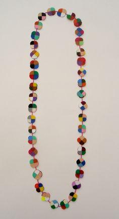 Fools Gold necklace by Mixquisite Textile Jewelry, Fabric Jewelry, Jewelry Art, Gold Jewelry, Beaded Jewelry, Jewelry Accessories, Handmade Jewelry, Jewelry Design, Beaded Necklace