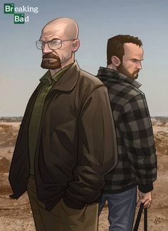 Breaking Bad - Walter White and Jesse Pinkman by Patrick Brown *