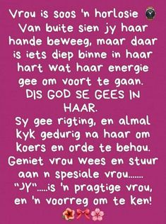 Special Quotes, Birthday Wishes, Wisdom, Afrikaans, Positivity, God, Motivation, Gift Ideas, Woman