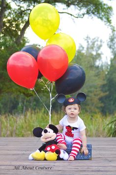 LITTLE MAN'S Mickey Mouse Bodysuit Includes Leg by AllAboutCouture, $25.95