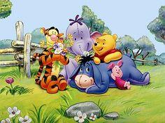 winnie the pooh and friends | Imagen de Winnie Pooh y sus amigos, leyendo un cuento.