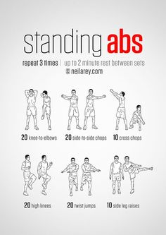 Standing Abs Workout - hmmm definitely worth a go! and it's good to do something different too!:
