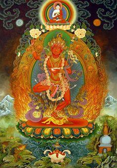 Vajravarahi Painting by Art School Buddhist Symbols, Buddhist Art, Tibetan Art, Tibetan Buddhism, Vajrayana Buddhism, Thangka Painting, Eastern Philosophy, Art Japonais, Sacred Art