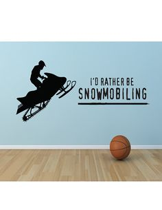 I'd Rather be Snowmobiling Vinyl Decal by huckleberrycreation, $36.00