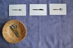 Matching eating utensils to pictures - can do this with anything the child is familiar with.