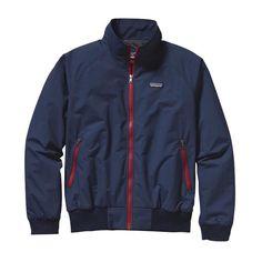 Patagonia Men\'s Baggies\u2122 Jacket - Navy Blue w\/Classic Red NVCR