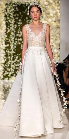 Reem Acra - Swoon-Worthy Dresses From Bridal Fashion Week - Fall 2015 from #InStyle