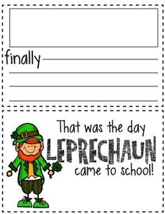 Students explore the depths of their imagination, while getting practice with sequence words: First, Next, Then, and Finally.  Great March writing activity!