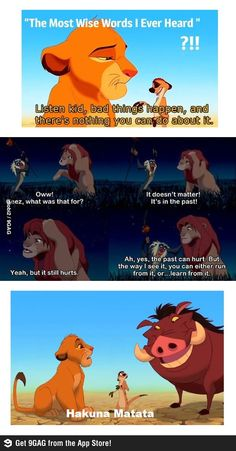 Life lessons from the Lion King. This is why Lion King is one of the best Disney movies ever. Humor Disney, Funny Disney Memes, Funny Memes, Sad Disney Quotes, 9gag Memes, Gifs Hilarious, Lmfao Funny, Fun Funny, Funny Cartoons