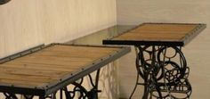 Pallet Tables with Metal Frame, will also be turning one of them into a treadle lathe.