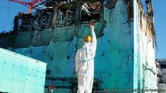 An image of Fukushima by art/activist Toshinori Mizumo, a member of the six-person collective ChimPom, from a profile in The Economist of an emerging strand of protest art in Japan