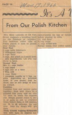 Retro Recipes, Old Recipes, Vintage Recipes, Cooking Recipes, Ethnic Recipes, Czech Recipes, Blender Recipes, Family Recipes, Crack Crackers