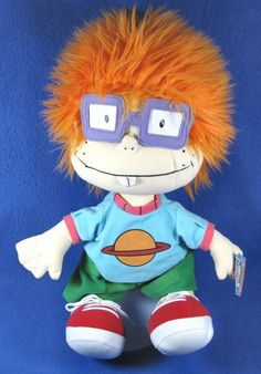 """Rugrats Chuckie Plush 16"""" Posable Doll Nickelodeon Classic Cartoon With Tag #Nickelodeon"""