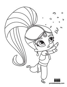 Shimmer And Shine | Printables Baby - Free Cartoon Coloring Pages