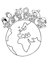 Gerelateerde afbeelding Around The World Theme, Celebration Around The World, Colouring Pages, Coloring Sheets, Coloring Books, World Crafts, Bible For Kids, Earth Day, Art Plastique