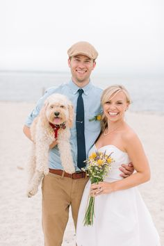 always bring your doggie to the wedding http://www.weddingchicks.com/2013/12/10/cape-cod-beach-wedding/
