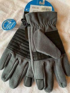 NWT Columbia Mens Omni-Heat Agent Heat II Reflective Fleece Glove Size S M L XL