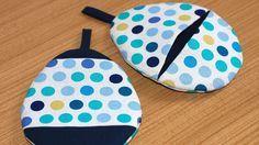 Topflappen in Ei-Form: Mit diesen hübschen und gleichzeitig praktischen Ofenhandschuhen müssen wir uns nie wieder die Hände verbrennen! Yoshiko Klein zeigt, wie sie genäht werden.