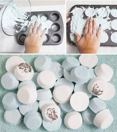 Γγρ│ Pastilles relaxantes pour le bain à faire soi-même.