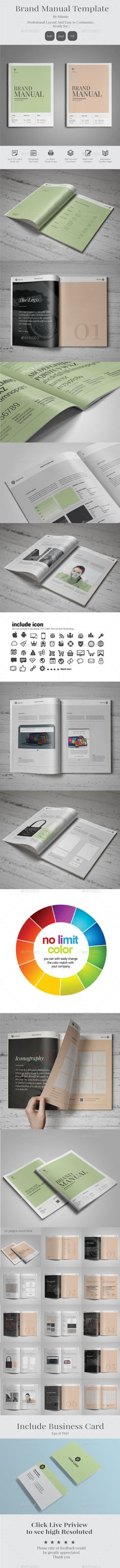 Brand Manual Guidelines #manual #guidelines #branding http://graphicriver.net/item/brand-manual/14040938