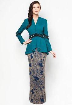 model baju kurung kombinasi