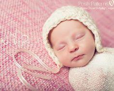 Crochet PATTERN - Easy Crochet Baby Bonnet Pattern