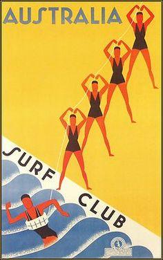 Australia Surf Club // Vintage Poster