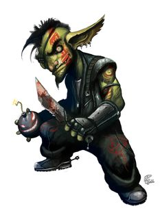 Concept art: Goblin by shiprock on DeviantArt Fantasy Races, High Fantasy, Fantasy Rpg, Character Concept, Character Art, Concept Art, Character Design, Urban Concept, Character Ideas