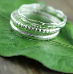 Three Stackable Sterling Silver Toe Rings