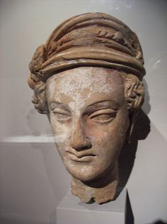 Head of a Youthful Male Pakistan (ancient region of Gandhara), 4th-5th century