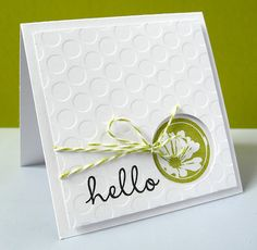 stamping & sharing: more hello%27s