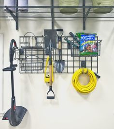 Store all your gardening tools in one spot in your garage. #ActivityOrganizers #OrganizedLiving