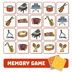 Memory Game For Children, Cards With Musical Instruments Stock Vector - Illustration of classical, cello: 85472939 Memory Game For Children, Cards With Musical Instruments Stock Vector - Image: 85472939 Memory Games For Kids, Music For Kids, Music Lesson Plans, Music Lessons, Cello, Preschool Music Activities, Music And Movement, Elementary Music, Musicals